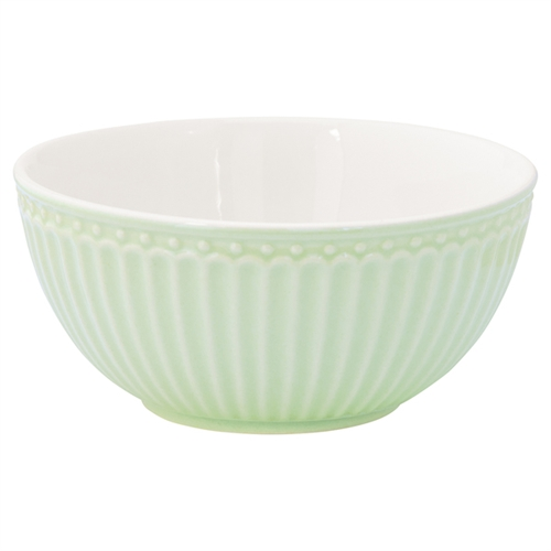 Stoneware Cereal bowl Alice pale green