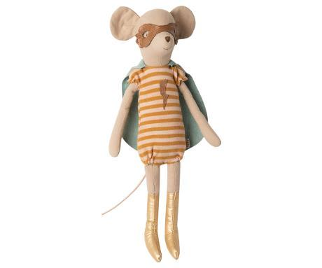MAILEG  SUPER HERO MOUSE, MEDIUM - GIRL