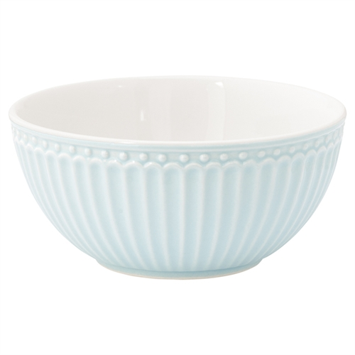Stoneware Cereal bowl Alice pale blue